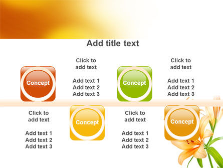 Yellow Lily PowerPoint Template Slide 18