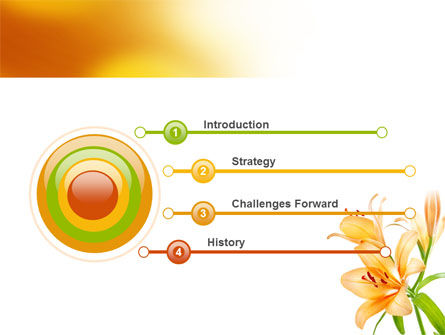 Yellow Lily PowerPoint Template, Slide 3, 06649, Holiday/Special Occasion — PoweredTemplate.com