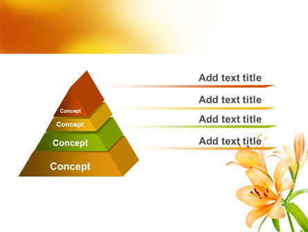 Yellow Lily PowerPoint Template, Slide 4, 06649, Holiday/Special Occasion — PoweredTemplate.com