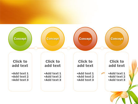 Yellow Lily PowerPoint Template Slide 5