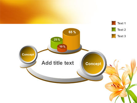 Yellow Lily PowerPoint Template Slide 6