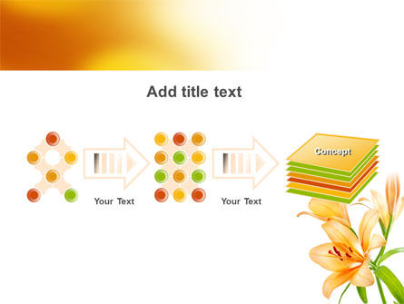 Yellow Lily PowerPoint Template Slide 9