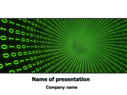 Digital Hole PowerPoint Template, 06650, Technology and Science — PoweredTemplate.com