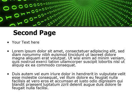 Digital Hole PowerPoint Template, Slide 2, 06650, Technology and Science — PoweredTemplate.com