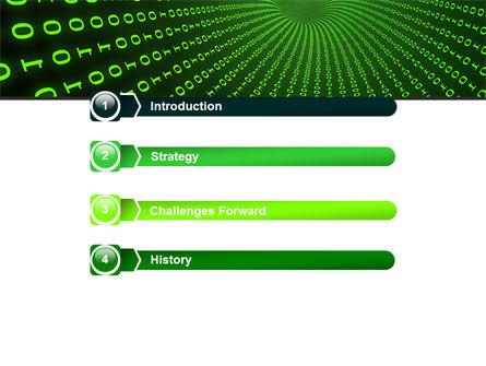 Digital Hole PowerPoint Template, Slide 3, 06650, Technology and Science — PoweredTemplate.com