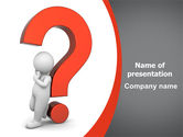 Consulting: Question Mark PowerPoint Template #06651