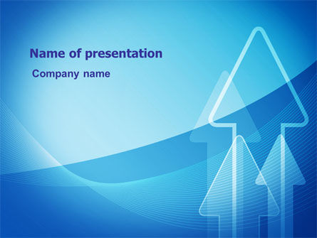 Neon Blue Arrow PowerPoint Template, 06652, Business — PoweredTemplate.com