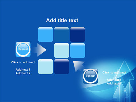 Neon Blue Arrow PowerPoint Template Slide 16
