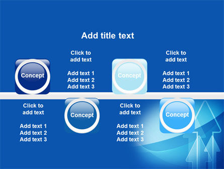 Neon Blue Arrow PowerPoint Template Slide 19