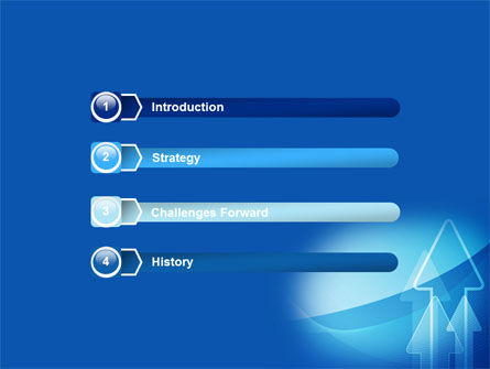 Neon Blue Arrow PowerPoint Template Slide 3