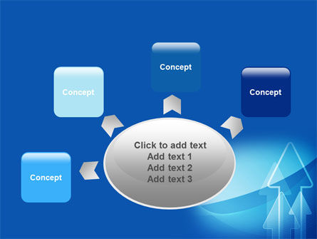 Neon Blue Arrow PowerPoint Template Slide 7