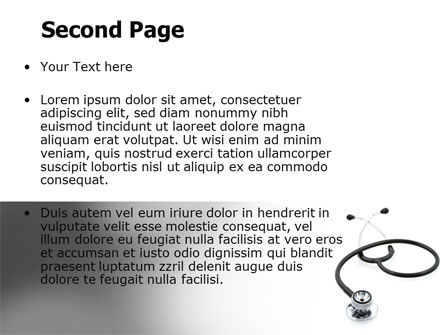 Phonendoscope In A Gray Color PowerPoint Template, Slide 2, 06653, Medical — PoweredTemplate.com