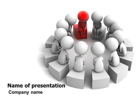 Group Deliberation PowerPoint Template, 06654, 3D — PoweredTemplate.com