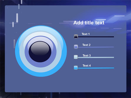 Abstract Blue Space PowerPoint Template Slide 9