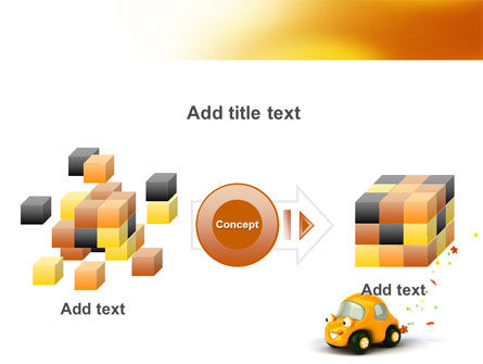 Orange Toy Car PowerPoint Template Slide 17