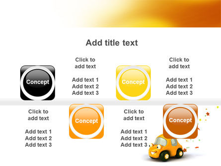 Orange Toy Car PowerPoint Template Slide 18