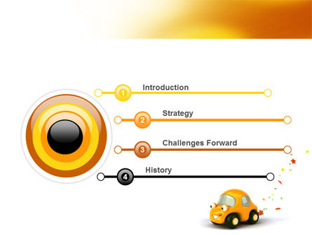 Orange Toy Car PowerPoint Template, Slide 3, 06656, Holiday/Special Occasion — PoweredTemplate.com