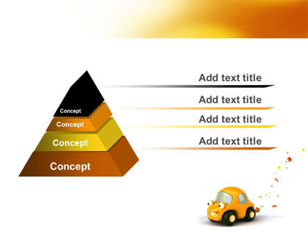 Orange Toy Car PowerPoint Template, Slide 4, 06656, Holiday/Special Occasion — PoweredTemplate.com