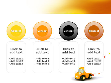Orange Toy Car PowerPoint Template Slide 5
