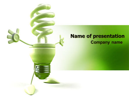 Nature & Environment: Energy Save Lamp PowerPoint Template #06657