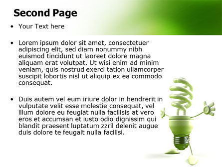 Energy Save Lamp PowerPoint Template, Slide 2, 06657, Nature & Environment — PoweredTemplate.com