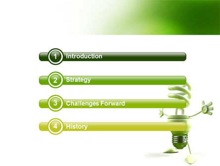 Energy Save Lamp PowerPoint Template, Slide 3, 06657, Nature & Environment — PoweredTemplate.com
