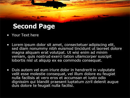 Apache Helicopter AH-64 PowerPoint Template, Slide 2, 06658, Military — PoweredTemplate.com