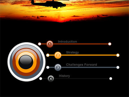Apache Helicopter AH-64 PowerPoint Template, Slide 3, 06658, Military — PoweredTemplate.com
