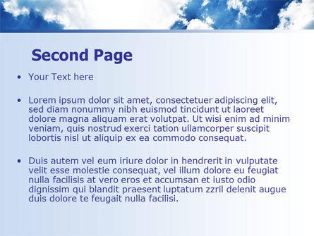 Deep Blue Sky PowerPoint Template, Slide 2, 06659, Nature & Environment — PoweredTemplate.com