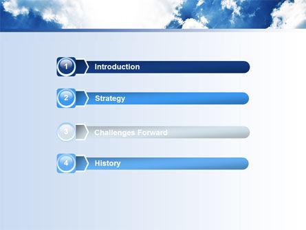 Deep Blue Sky PowerPoint Template, Slide 3, 06659, Nature & Environment — PoweredTemplate.com
