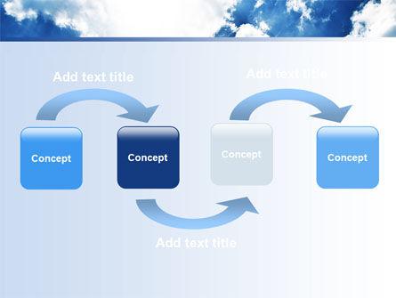 Deep Blue Sky PowerPoint Template, Slide 4, 06659, Nature & Environment — PoweredTemplate.com