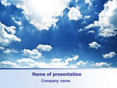 Nature & Environment: Deep Blue Sky PowerPoint Template #06659