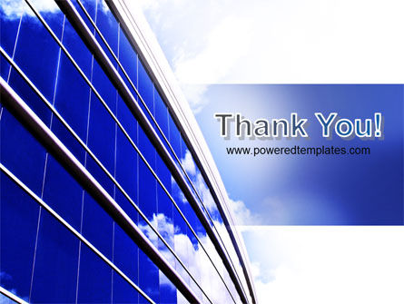 Blue Glass Skyscraper PowerPoint Template Slide 20