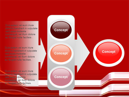 Abstract Red PowerPoint Template Slide 11