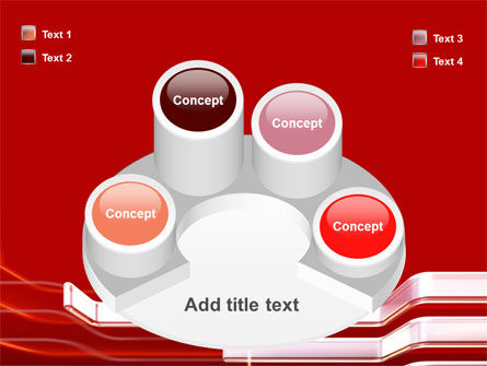 Abstract Red PowerPoint Template Slide 12