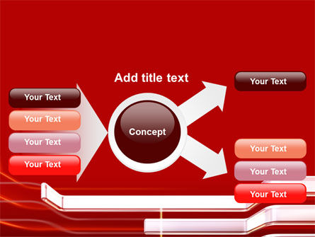 Abstract Red PowerPoint Template Slide 14