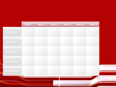 Abstract Red PowerPoint Template Slide 15