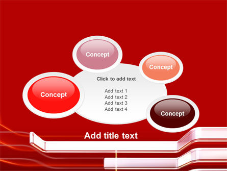 Abstract Red PowerPoint Template Slide 16