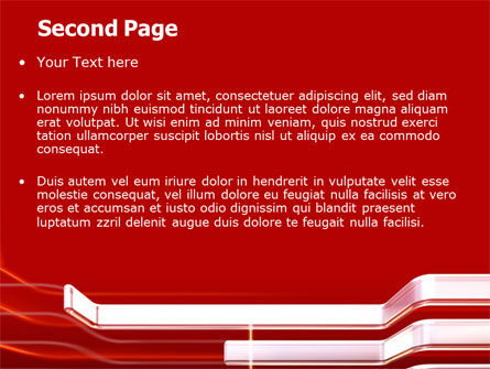 Abstract Red PowerPoint Template Slide 2