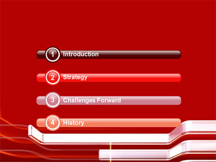 Abstract Red PowerPoint Template Slide 3