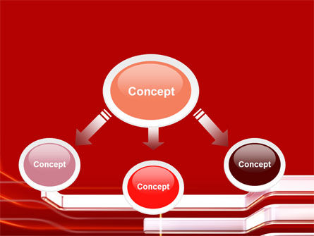 Abstract Red PowerPoint Template Slide 4