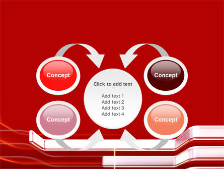 Abstract Red PowerPoint Template Slide 6