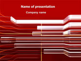 Abstract/Textures: Abstract Red PowerPoint Template #06667