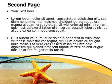 Starfish On The Beach PowerPoint Template, Slide 2, 06668, Nature & Environment — PoweredTemplate.com