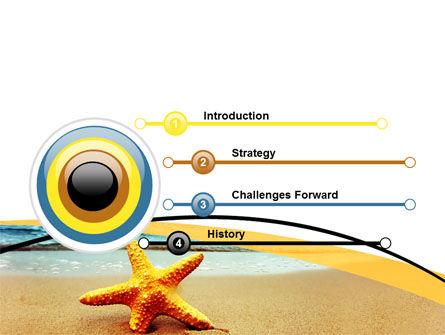 Starfish On The Beach PowerPoint Template, Slide 3, 06668, Nature & Environment — PoweredTemplate.com