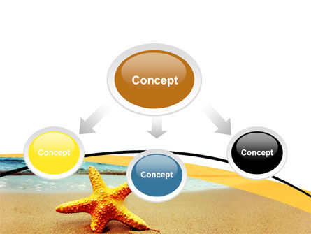 Starfish On The Beach PowerPoint Template, Slide 4, 06668, Nature & Environment — PoweredTemplate.com
