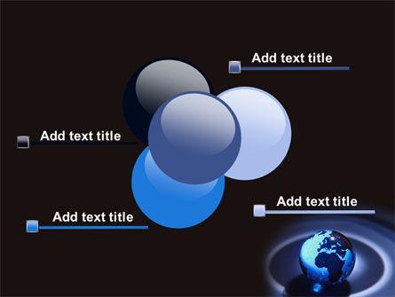 Blue World Globe PowerPoint Template Slide 10