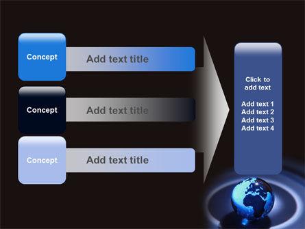Blue World Globe PowerPoint Template Slide 12