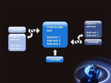 Blue World Globe PowerPoint Template Slide 13