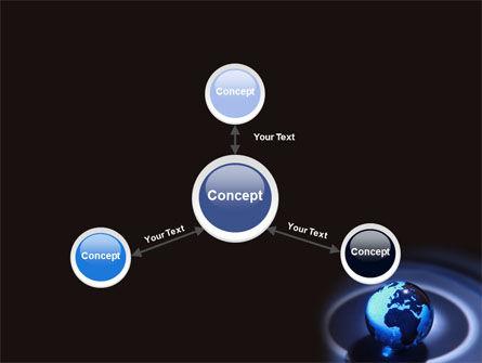 Blue World Globe PowerPoint Template Slide 14